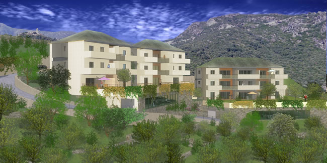 Vente programme neuf ville di pietrabugno r sidence a for Appartement f2 neuf